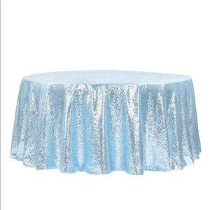"""Sequins 120"""" round Tablecloth"""